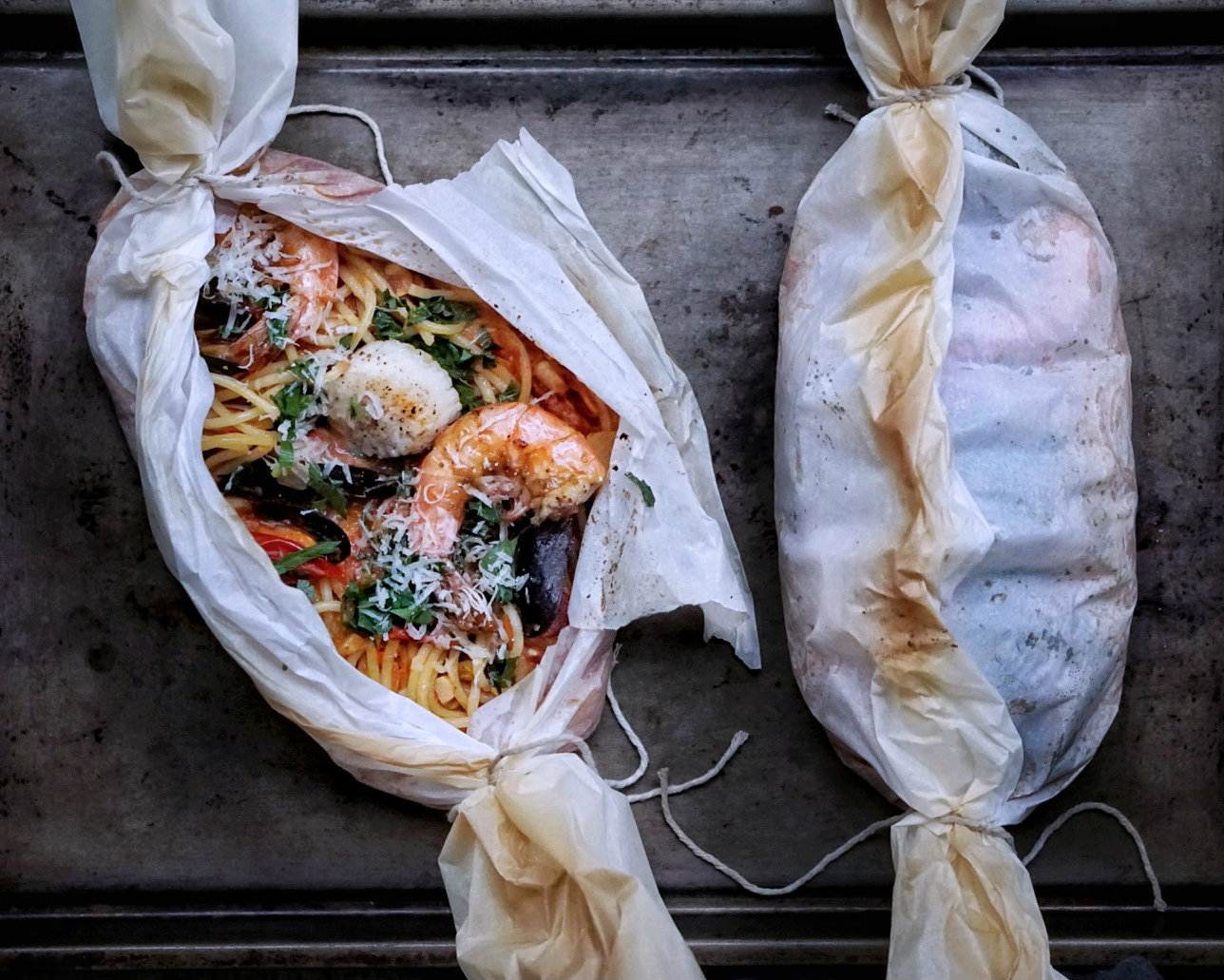 Seafood Pasta in Parchment