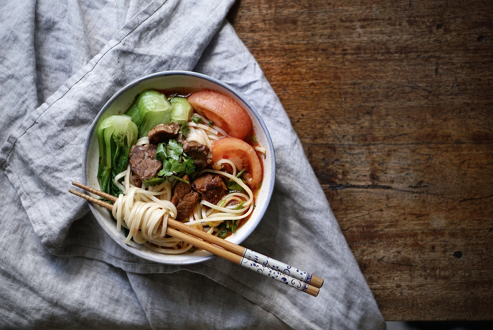 Tomato Beef Noodle Soup