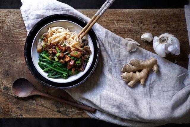 Eggplant Pork Noodles