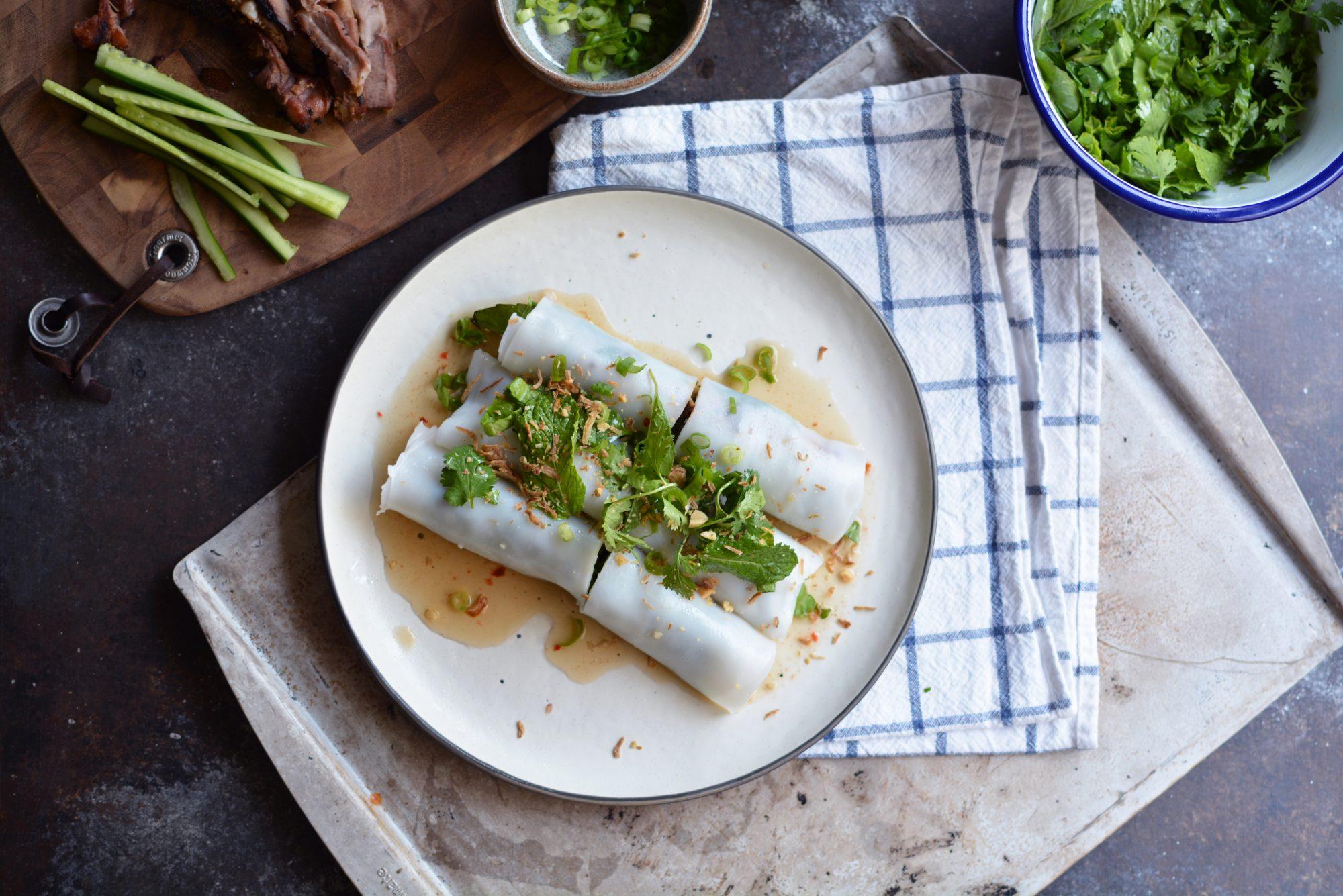 Vietnamese Lemongrass Pork Rolls (bánh cuốn)