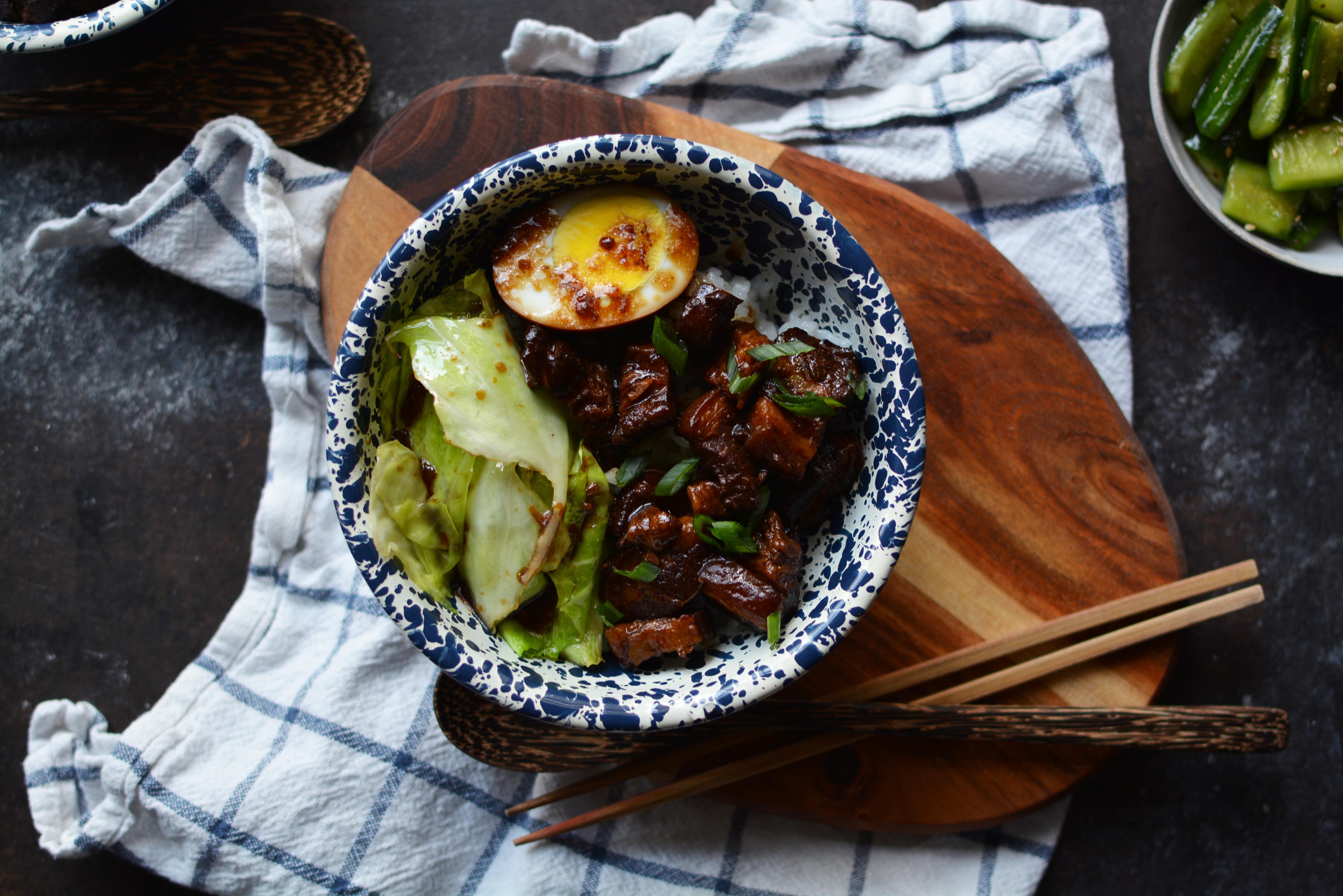 Lu Rou Fan (Braised Pork Belly on Rice)