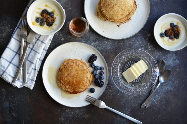 Maple Brown Sugar Oatmeal Pancakes