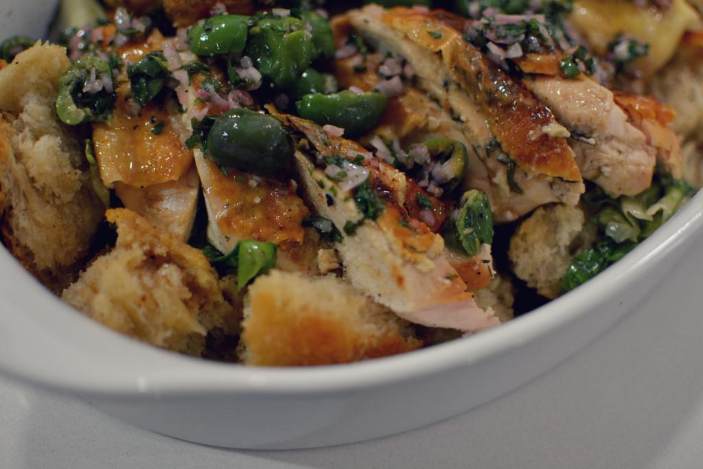 A.O.C. Roast Chicken with Panzanella