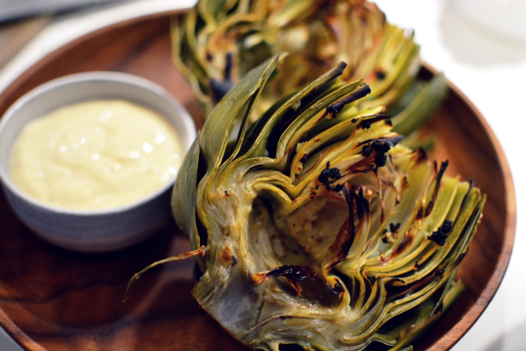 Grilled Artichoke with Garlic Aioli
