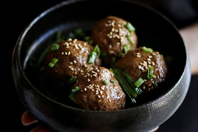 Chinese Meatballs with Lotus Root