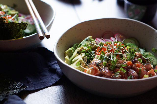 Ahi Tuna & Salmon Poke Bowl