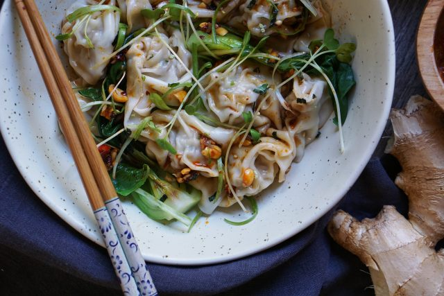 Wontons in Sichuan Chili Oil