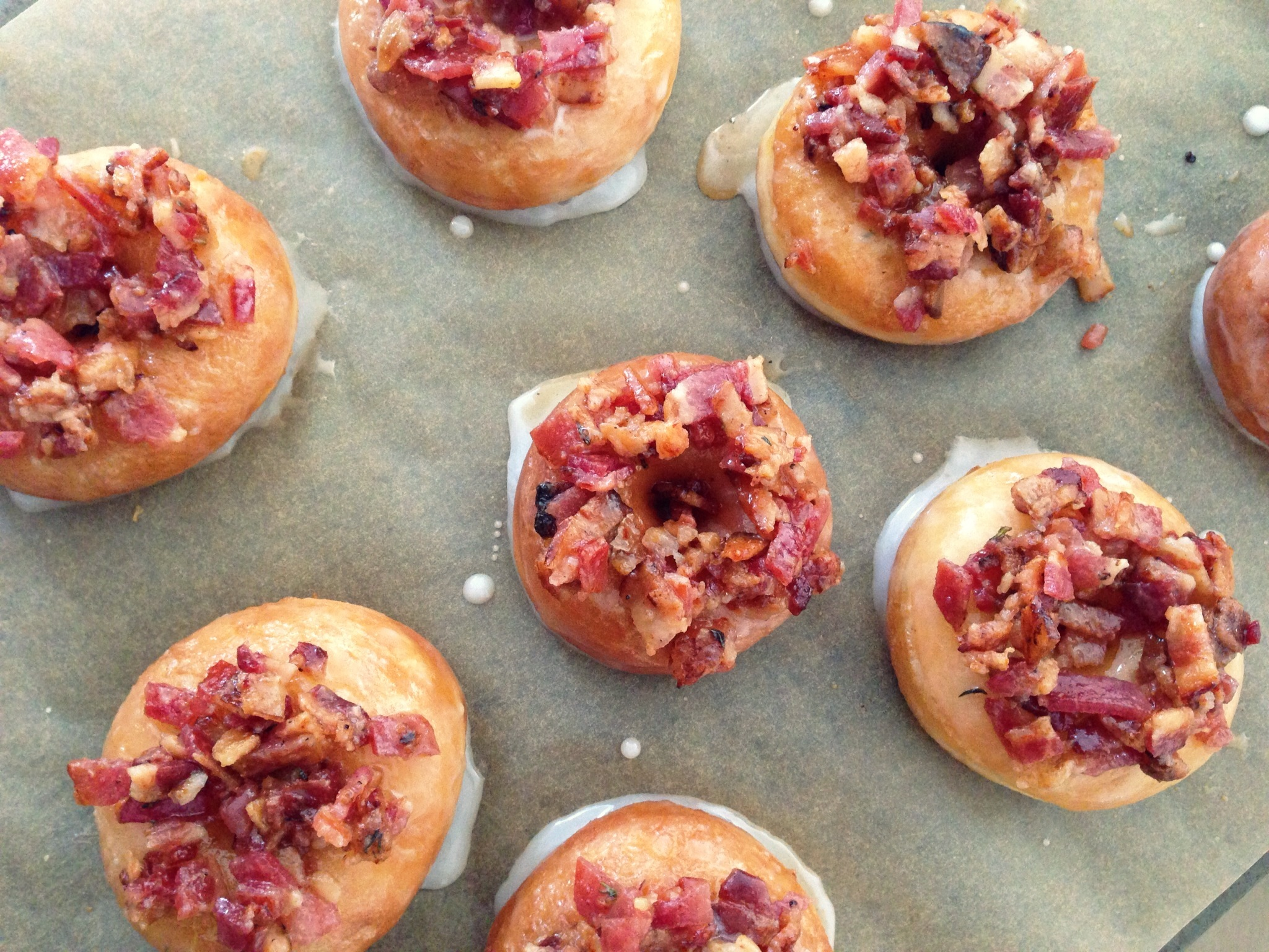 Bacon Maple Glazed Thyme Donuts