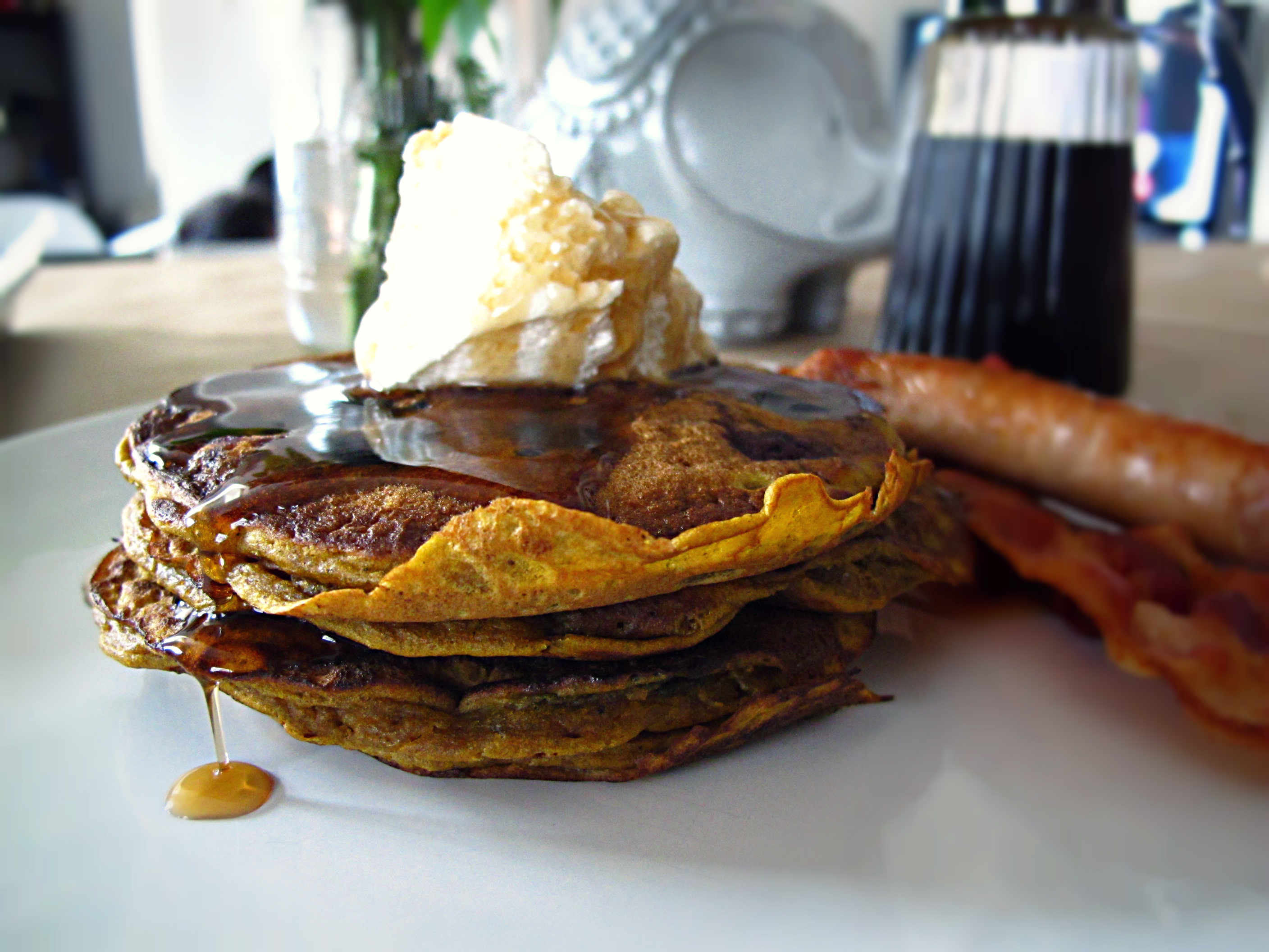 Blueberry Pumpkin Pancakes