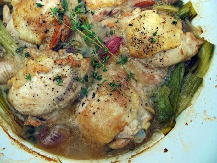 Braised Chicken & Leeks