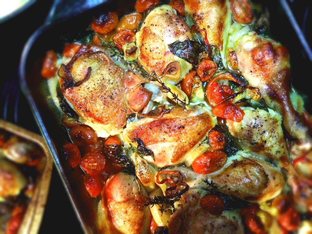 Crispy Tomato Basil Chicken