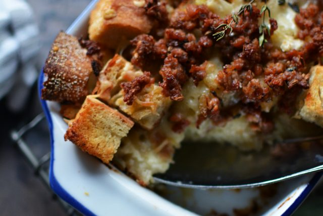 Fennel Sausage Bread Pudding