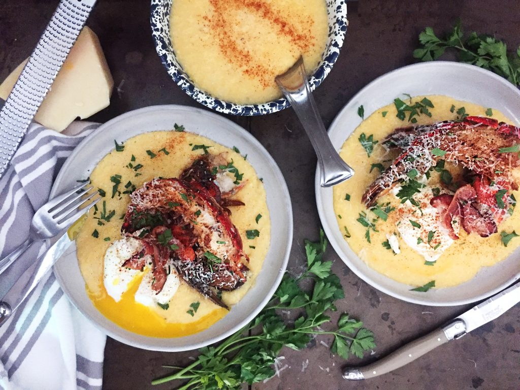Lobster Polenta with Poached Eggs