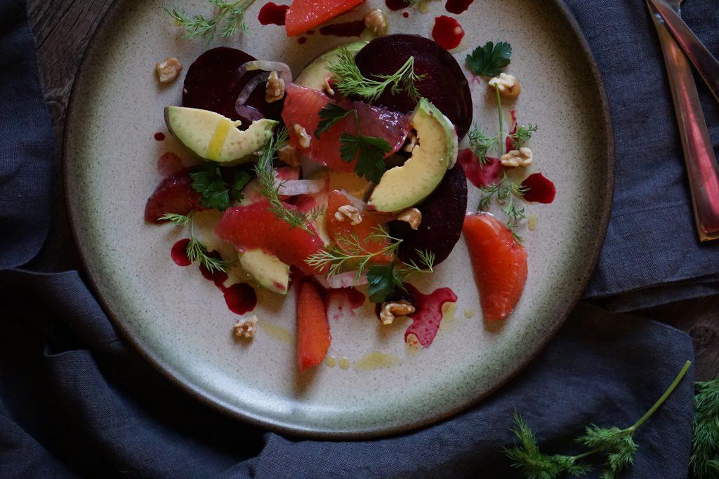 Roast Beet, Citrus & Avocado Salad