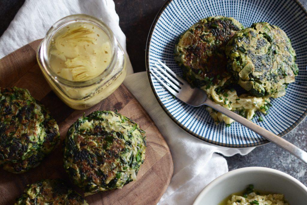 Zucchini Spinach Cakes