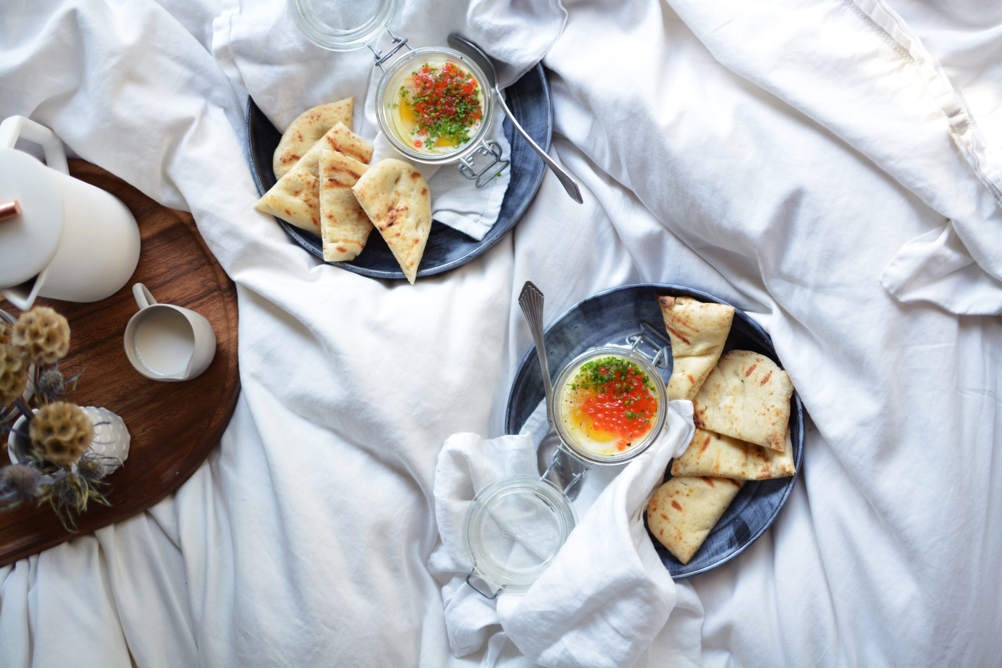 Coddled Eggs with Red Caviar
